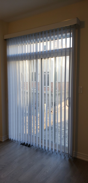 PVC Vertical Blind - Window Coverings ontario by Modern Window Fashion