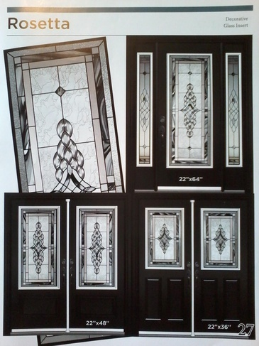 Stain Glass Door Inserts Caledon by Modern Window Fashion
