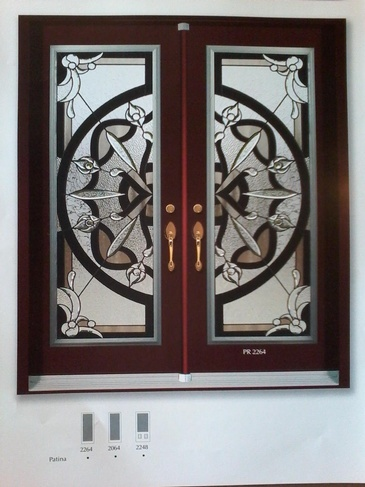 Stain Glass Door Inserts Niagara by Modern Window Fashion