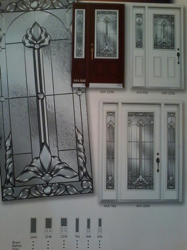 Stain Glass Door Inserts Niagara at Zebradualshades.com - Modern Window Fashion
