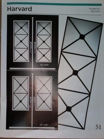 Wrought Iron Door Inserts Vaughan at Zebradualshades.com - Modern Window Fashion