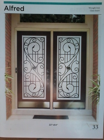 Wrought Iron Door Inserts Burlington by Modern Window Fashion