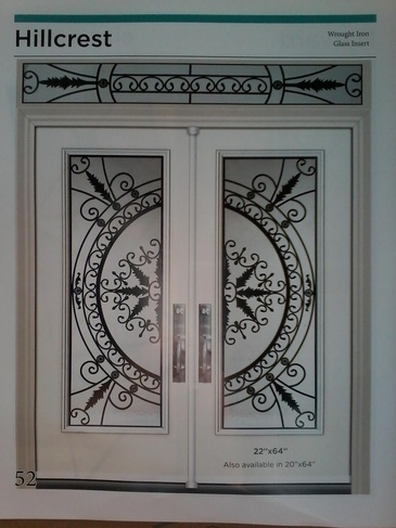 Wrought Iron Door Inserts Waterloo at Zebradualshades.com - Modern Window Fashion