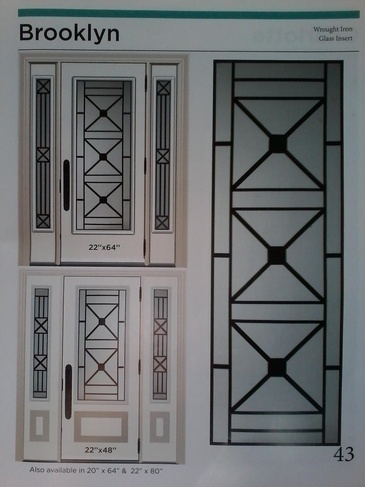 Wrought Iron Door Inserts Mississauga by Modern Window Fashion