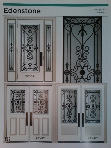 Wrought Iron Door Inserts Niagara by Modern Window Fashion