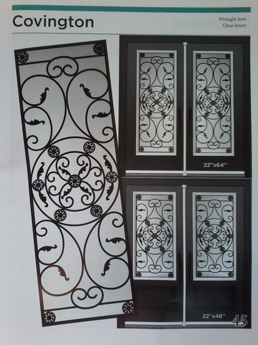 Wrought Iron Door Inserts Pickering by Modern Window Fashion