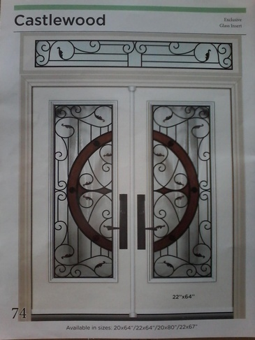 Wrought Iron Door Inserts Caledon at Zebradualshades.com
