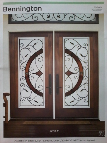 Wrought Iron Door Inserts St. Catharines by  Modern Window Fashion