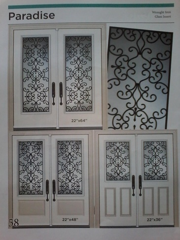 Wrought Iron Door Inserts Hamilton by Modern Window Fashion