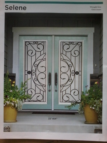 Wrought Iron Door Inserts Aurora by Modern Window Fashion