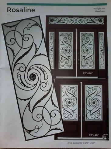 Wrought Iron Door Inserts Scarborough by Modern Window Fashion