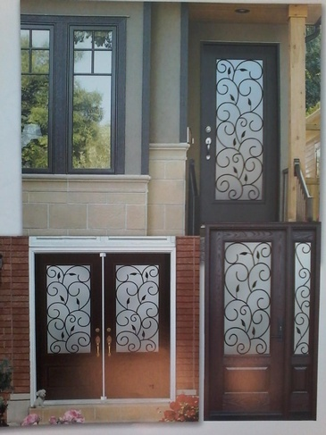 Wrought Iron Door Inserts Ajax by Modern Window Fashion