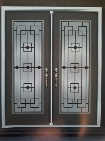 Wrought Iron Door Inserts Whitby by Modern Window Fashion