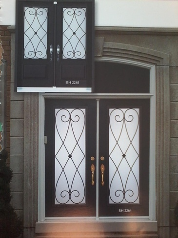 Wrought Iron Door Inserts Caledon by Modern Window Fashion