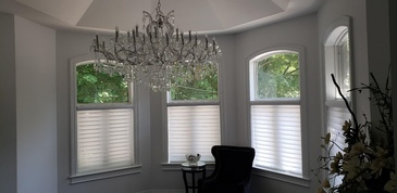 Triple Window Shades Canada by Modern Window Fashion